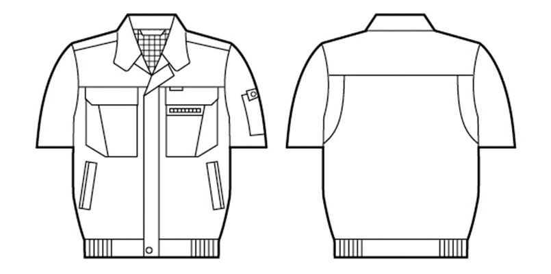 自重堂 46210 [春夏用]制電ソフトサマーツイル 半袖ブルゾン ハンガーイラスト・線画