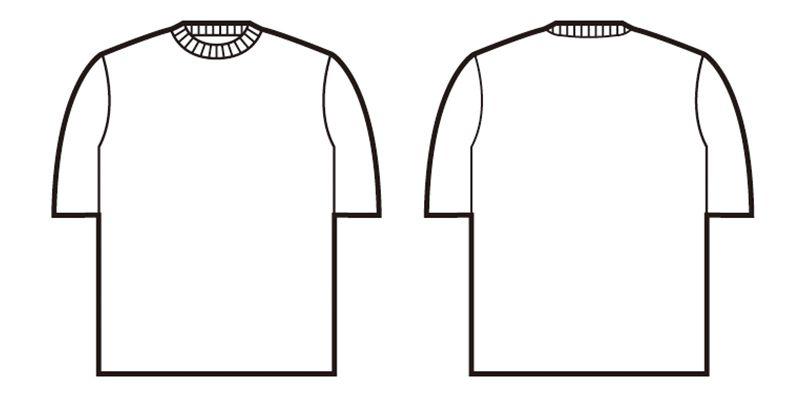 自重堂 47624 吸汗速乾半袖Tシャツ(胸ポケット無し) ハンガーイラスト・線画