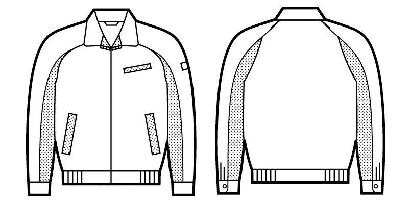 自重堂 47820 [春夏用]エコ 5バリュー 長袖ブルゾン(JIS T8118適合) ハンガーイラスト・線画