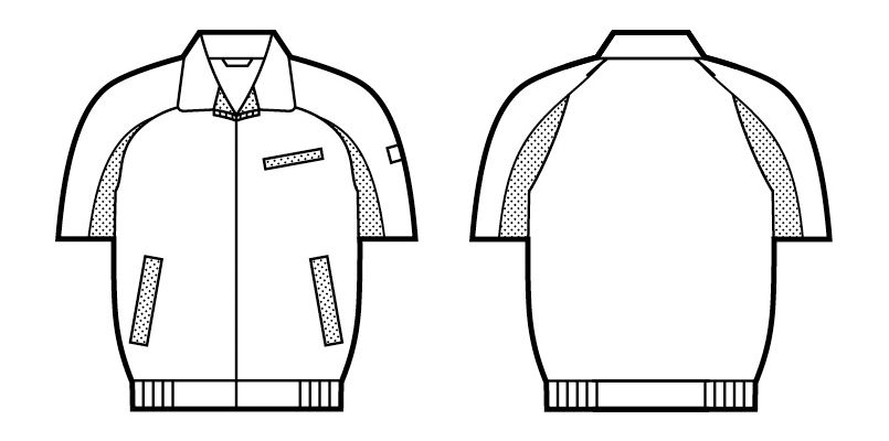 自重堂 47830 [春夏用]エコ 5バリュー 半袖ブルゾン(JIS T8118適合) ハンガーイラスト・線画
