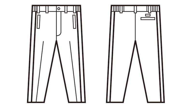 自重堂 48401 軽量防寒パンツ ハンガーイラスト・線画
