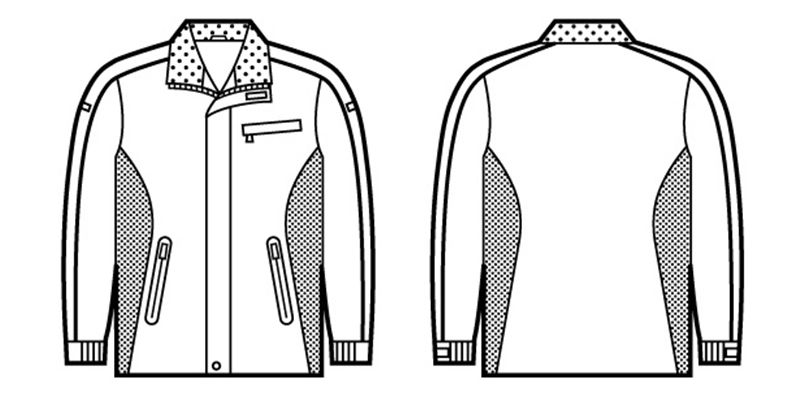 自重堂 48403 軽量防寒ハーフコート ハンガーイラスト・線画