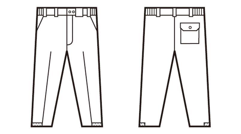自重堂 48411 製品制電防寒パンツ[JIS T8118対応] ハンガーイラスト・線画