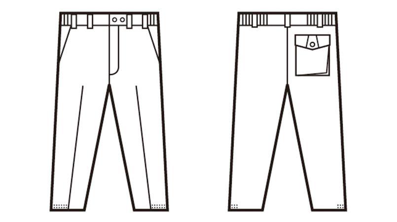 自重堂 48421 制電防寒パンツ ハンガーイラスト・線画