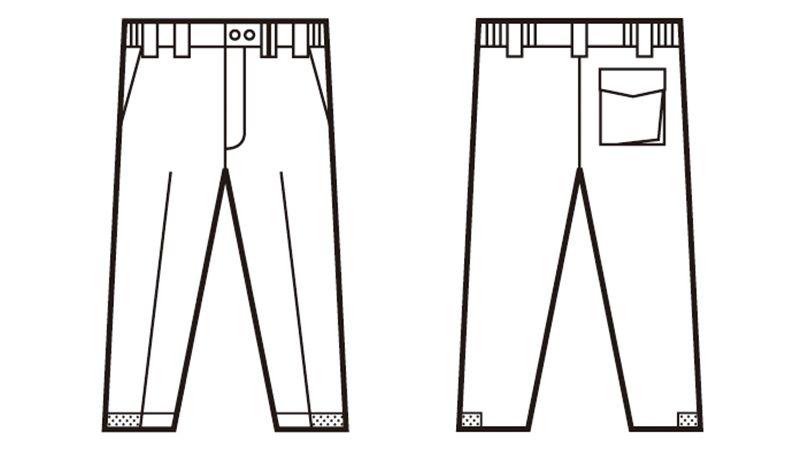 自重堂 48441 超耐久撥水 裏アルミ防寒パンツ ハンガーイラスト・線画