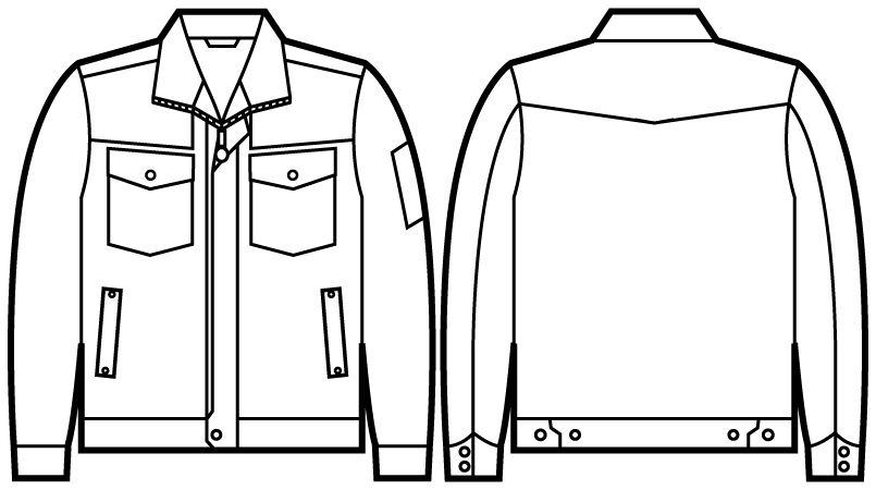 自重堂Jawin 51000 長袖ジャンパー ハンガーイラスト・線画