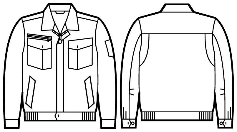 自重堂Jawin 51200 [秋冬用]長袖ブルゾン ハンガーイラスト・線画