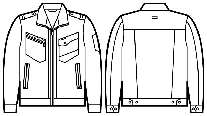 自重堂 51700 JAWIN 長袖ジャンパー(新庄モデル) ハンガーイラスト・線画
