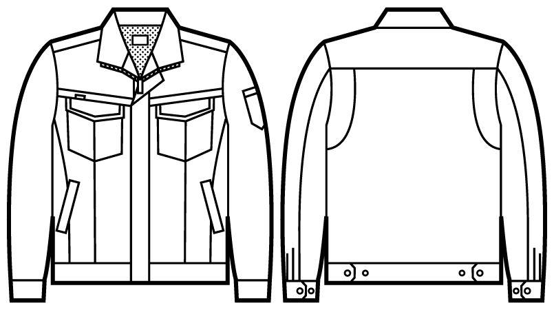 自重堂Jawin 52200 長袖ジャンパー(新庄モデル) ハンガーイラスト・線画