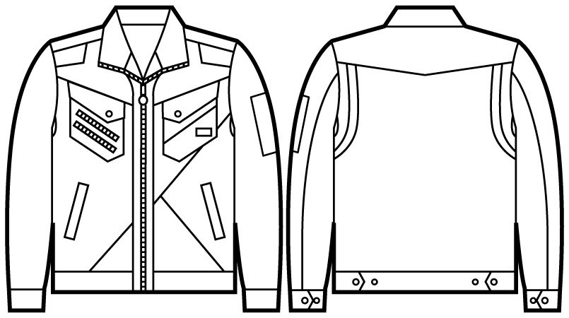 自重堂 52300 JAWIN ジャンパー(新庄モデル) ハンガーイラスト・線画