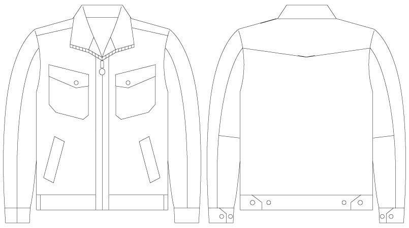 自重堂Jawin 55100 [春夏用]長袖ジャンパー(綿100%) ハンガーイラスト・線画
