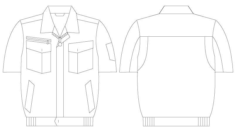 自重堂Jawin 55210 [春夏用]半袖ブルゾン ハンガーイラスト・線画