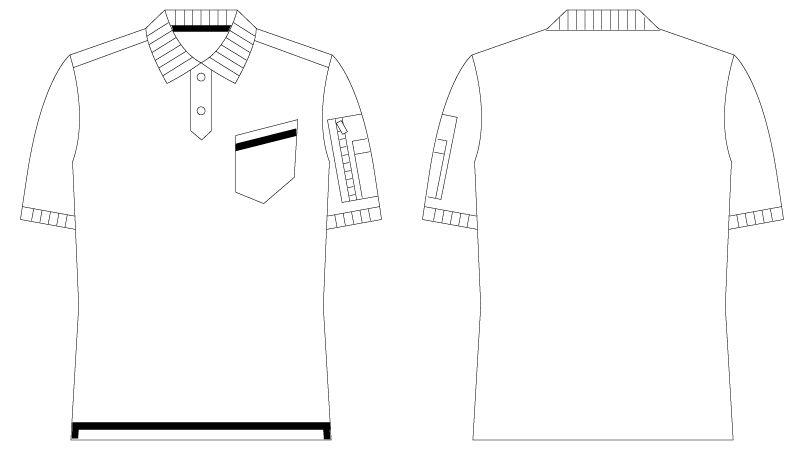 自重堂Jawin 55354 [春夏用]鹿の子半袖ポロシャツ ハンガーイラスト・線画