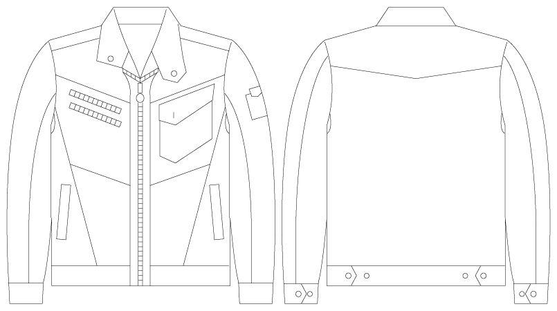 自重堂Jawin 55400 [春夏用]長袖ジャンパー ハンガーイラスト・線画