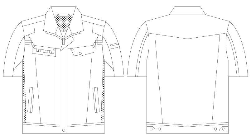 自重堂Jawin 55510 [春夏用]半袖ジャンパー ハンガーイラスト・線画