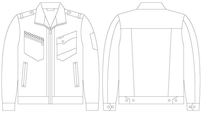 自重堂 55700 [春夏用]JAWIN 長袖ジャンパー(新庄モデル) ハンガーイラスト・線画