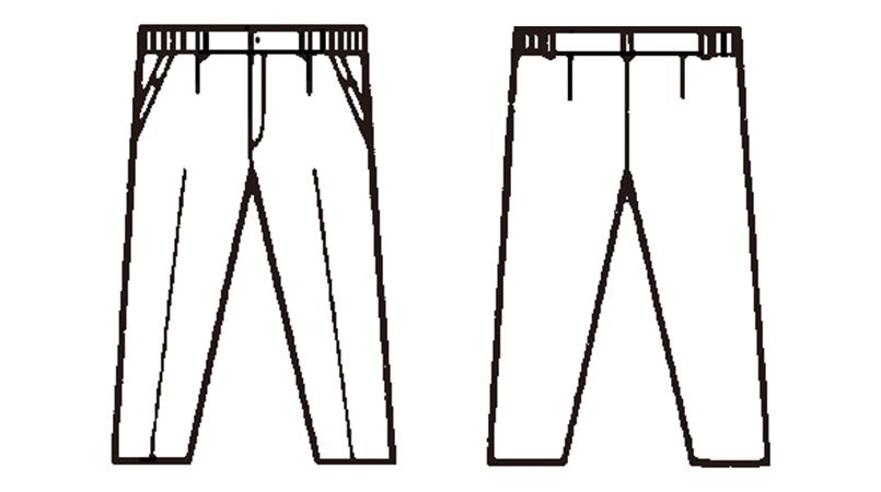 自重堂 561 レディース防寒パンツ ハンガーイラスト・線画