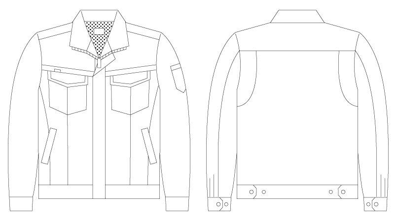 自重堂 56200 [春夏用]JAWIN 長袖ジャンパー(新庄モデル) ハンガーイラスト・線画