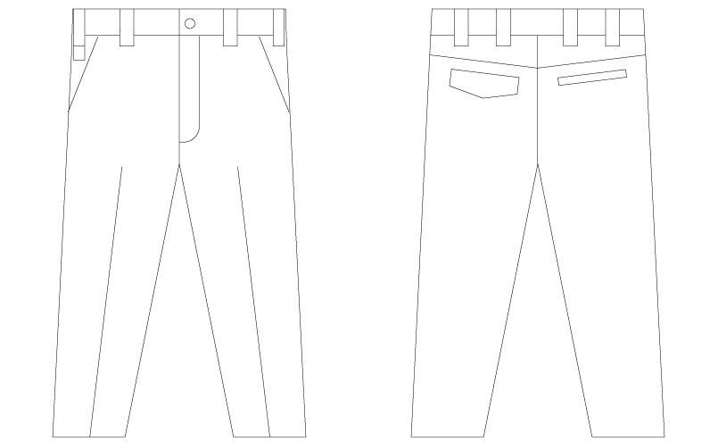 自重堂Jawin 56201 [春夏用]ノータックパンツ(新庄モデル) ハンガーイラスト・線画