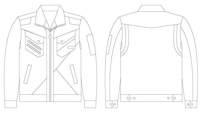 自重堂 56300 [春夏用]JAWIN 長袖ジャンパー(新庄モデル) ハンガーイラスト・線画