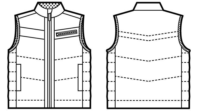 自重堂Jawin 58140 サーモライト防寒ベスト ハンガーイラスト・線画