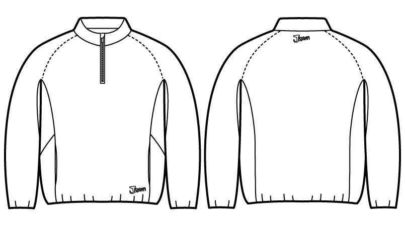 自重堂Jawin 58154 [秋冬用]防風ラミネートロングスリーブ ハンガーイラスト・線画