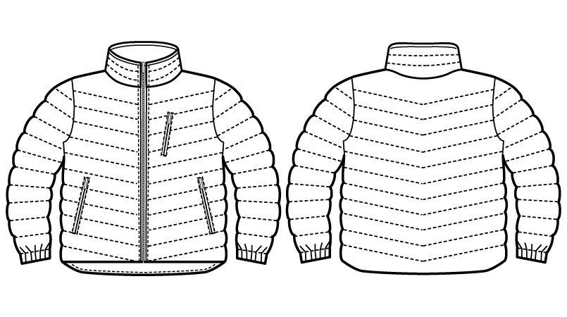 自重堂Jawin 58500 [秋冬用]防寒ジャンパー ハンガーイラスト・線画