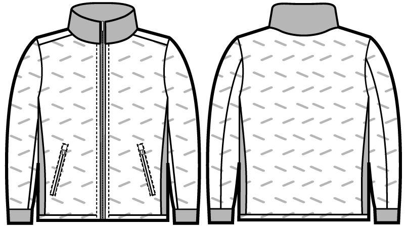 自重堂Jawin 58600 [秋冬用]シームレス防寒ジャンパー ハンガーイラスト・線画