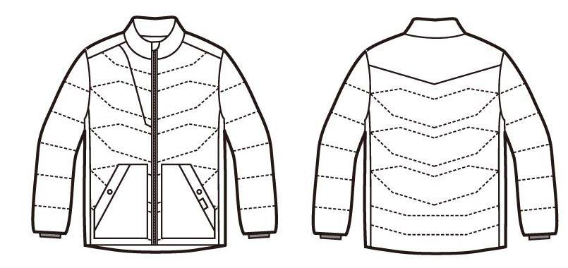 自重堂 58700 [秋冬用]JAWIN カモフラ防寒ジャンパー ハンガーイラスト・線画