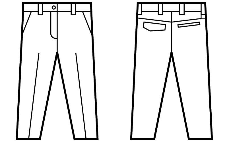 自重堂 71206 Z-DRAGON 綿100%レディースパンツ[女性用] ハンガーイラスト・線画