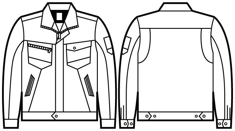 自重堂 71300 [秋冬用]Z-DRAGON 製品制電ジャンパー(JIS T8118適合) ハンガーイラスト・線画