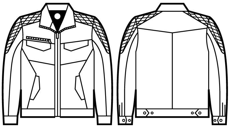 自重堂 71400 Z-DRAGON 長袖ジャンパー ハンガーイラスト・線画
