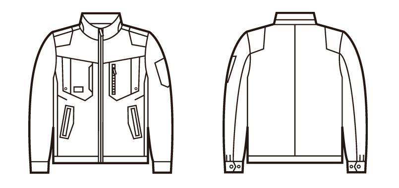 自重堂 71700 Z-DRAGON ストレッチジャンパー[フルハーネス対応] ハンガーイラスト・線画