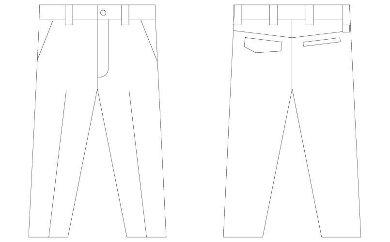 自重堂 75001 [春夏用]Z-DRAGON ストレッチノータックパンツ ハンガーイラスト・線画