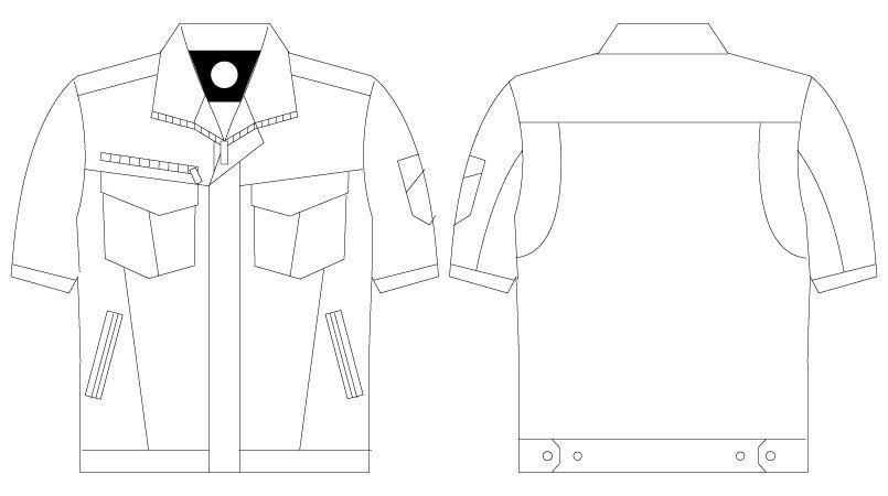 自重堂 75010 [春夏用]Z-DRAGON ストレッチ半袖ジャンパー ハンガーイラスト・線画