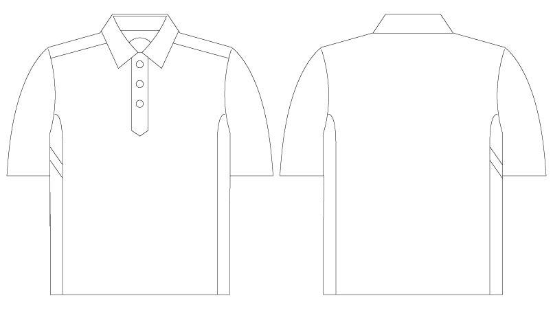 自重堂 75114 Z-DRAGON 半袖ポロシャツ(男女兼用) ハンガーイラスト・線画
