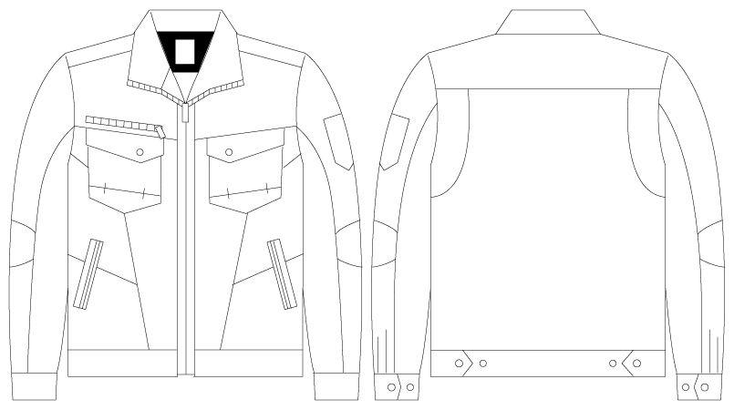 自重堂 75200 [春夏用]Z-DRAGON 綿100%長袖ジャンパー(男女兼用) ハンガーイラスト・線画
