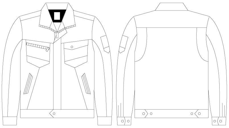 自重堂 75300 [春夏用]Z-DRAGON 製品制電長袖ジャンパー(男女兼用) ハンガーイラスト・線画