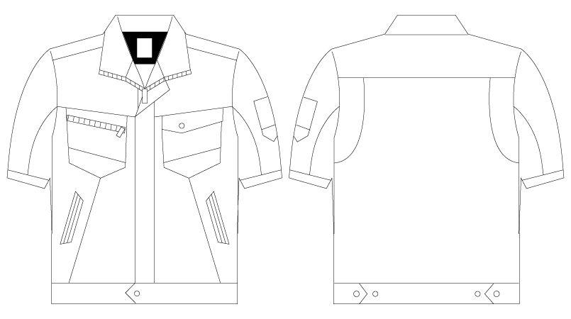 自重堂 75310 [春夏用]Z-DRAGON 製品制電半袖ジャンパー(男女兼用) ハンガーイラスト・線画