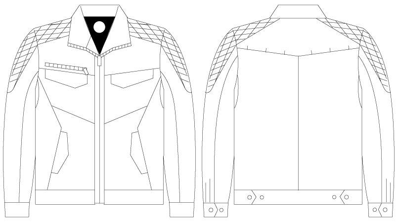 自重堂 75400 [春夏用]Z-DRAGON サマーツイル長袖ジャンパー ハンガーイラスト・線画