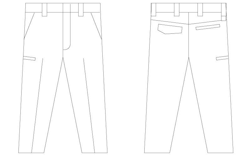 自重堂 75501 [春夏用]Z-DRAGON 製品制電ノータックパンツ ハンガーイラスト・線画