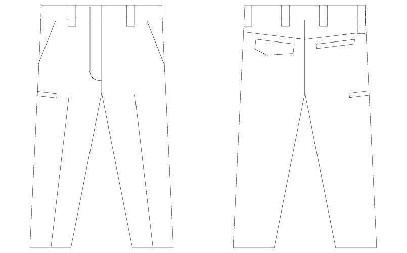 自重堂 75506 [春夏用]Z-DRAGON 製品制電レディースパンツ(裏付) ハンガーイラスト・線画