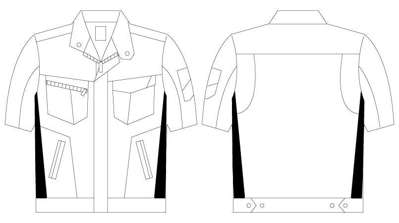自重堂 75510 [春夏用]Z-DRAGON 製品制電半袖ジャンパー ハンガーイラスト・線画