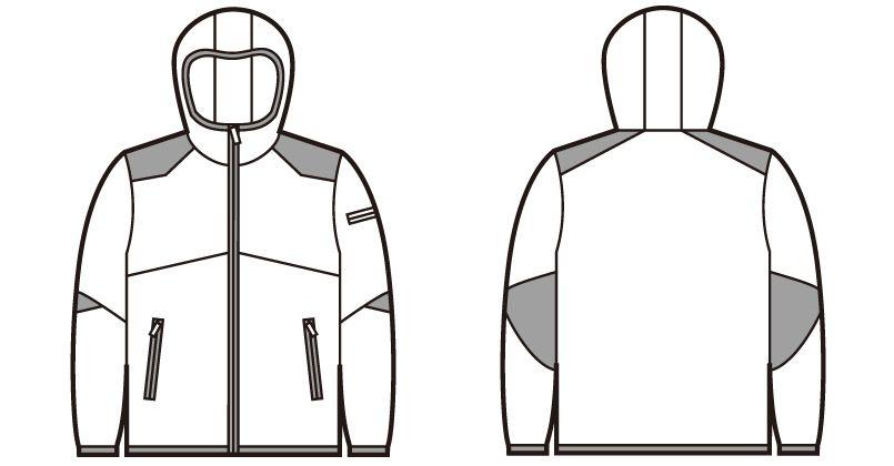 自重堂 78020 [秋冬用]Z-DRAGON 防風ストレッチパーカー ハンガーイラスト・線画