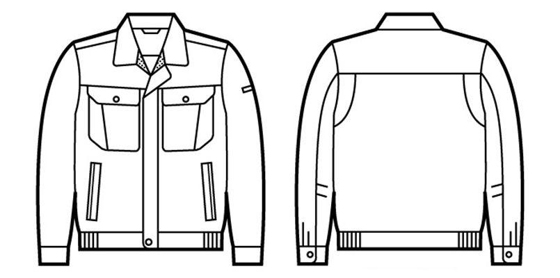 自重堂 80500 制電長袖ブルゾン ハンガーイラスト・線画