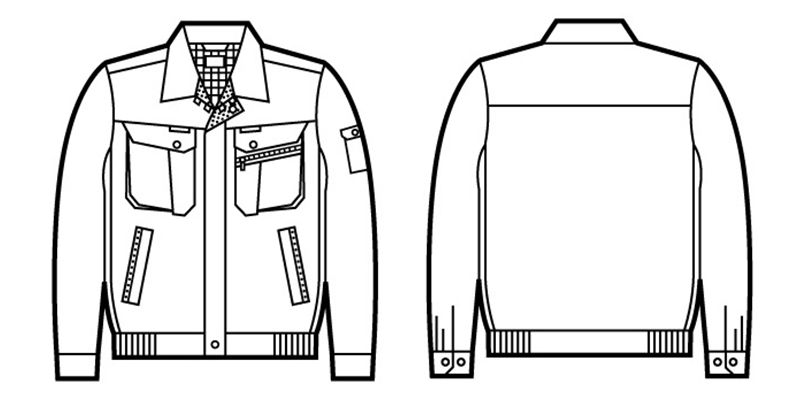 自重堂 82200 製品制電吸温発熱長袖ブルゾン(JIS T8118適合) ハンガーイラスト・線画
