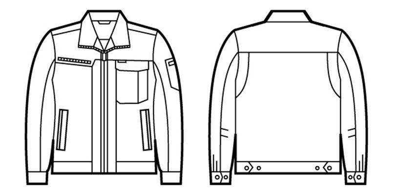 自重堂 82300 裏綿ストレッチツイルジャンパー ハンガーイラスト・線画
