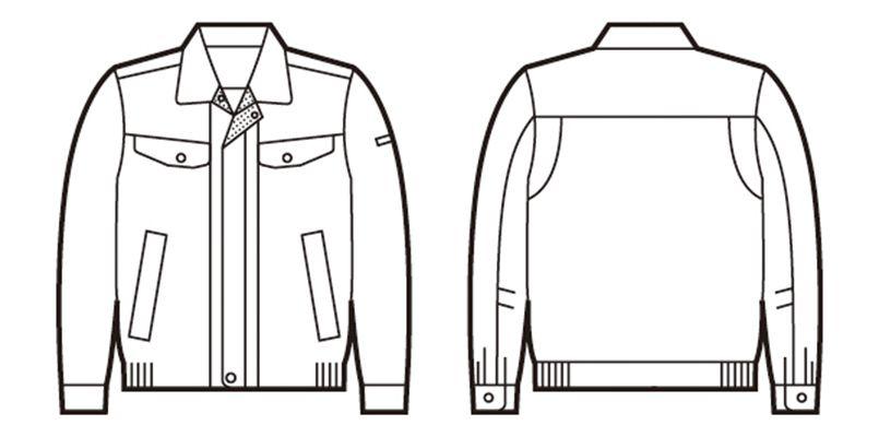 自重堂 84400 [春夏用]エコ 高制電 長袖ブルゾン(IEC規格適合) ハンガーイラスト・線画