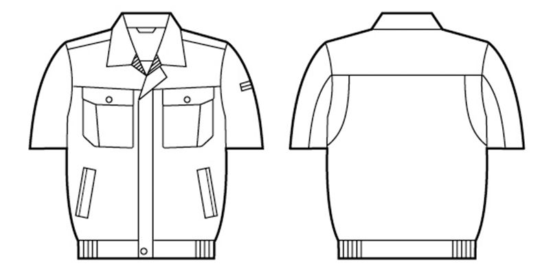 自重堂 84510 [春夏用]半袖ブルゾン ハンガーイラスト・線画