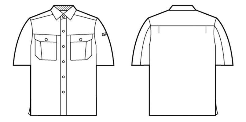 自重堂 84514 [春夏用]半袖シャツ ハンガーイラスト・線画